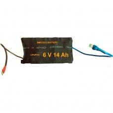 Аккумуляторная батарея BMS Eco Battery MINI01 6V14Ah