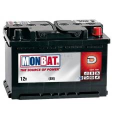 Аккумулятор стартерный MONBAT 6СТ-100 600 70 04 MF R+