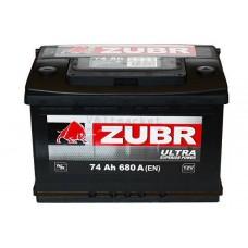 Автомобильная стартерная батарея ZUBR 6СТ-74 680А ULTRA R+