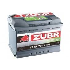 Автомобильная стартерная батарея ZUBR 6СТ-77 720А PREMIUM L+