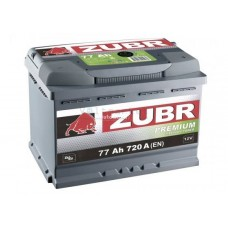 Автомобильная стартерная батарея ZUBR 6СТ-77 720А PREMIUM R+