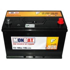 Аккумулятор стартерный MONBAT 6СТ-100 600 70 14 SMF R+