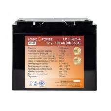 Аккумуляторная батарея LogicPower LiFePo-4 12V-100 Ah BMS 50A пластик