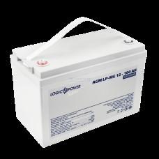 Аккумуляторная батарея LogicPower AGM LP-MG 12-100 AH SILVER
