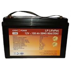 Аккумуляторная батарея LogicPower LiFePo-4 12V-100 Ah BMS 80A/40A