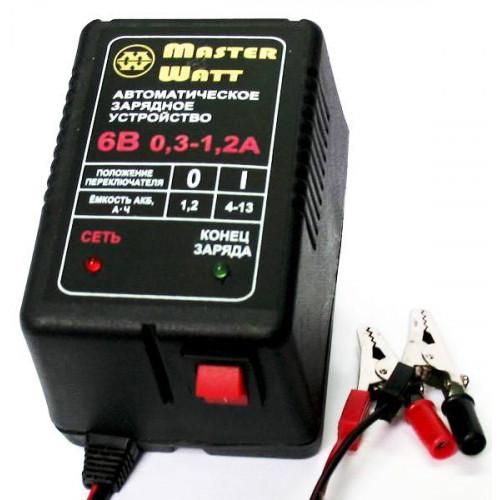 Автоматическое зарядное устройство MASTER WATT АЗУ 0.3-1.2А 6В мото
