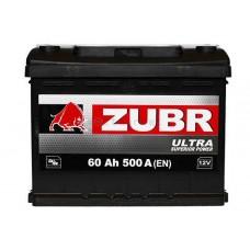 Автомобильная стартерная батарея ZUBR 6СТ-60 500А ULTRA L+