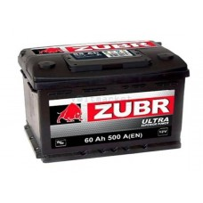 Автомобильная стартерная батарея ZUBR 6СТ-60 500А ULTRA R+